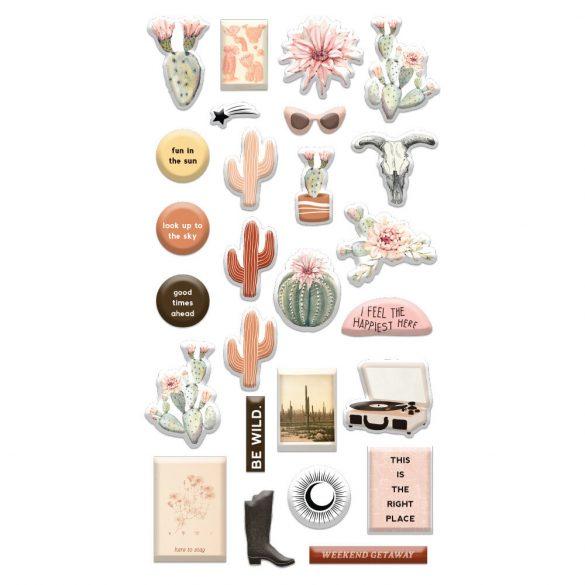 Pufi matrica - Prima Marketing - Golden Desert - Puffy Stickers