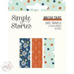 Dekortapasz  - Washi Tape - Simple Stories Safe Travels - 3db