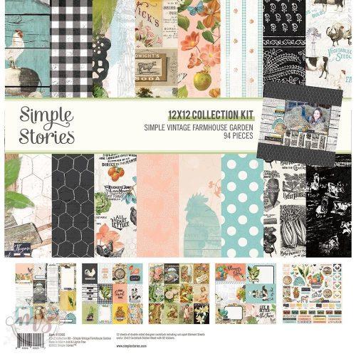 """Papírkészlet 12"""" - Simple Stories - Simple Vintage Farmhouse Garden Collection Kit / 1 csomag"""