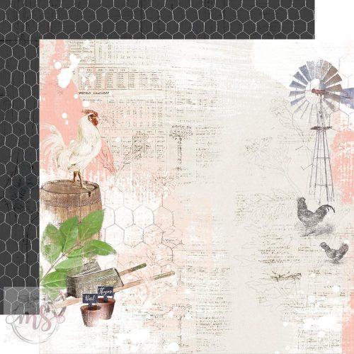 Scrapbook papír - Simple Stories - Simple Vintage Farmhouse Garden - Simple Things (1ív)