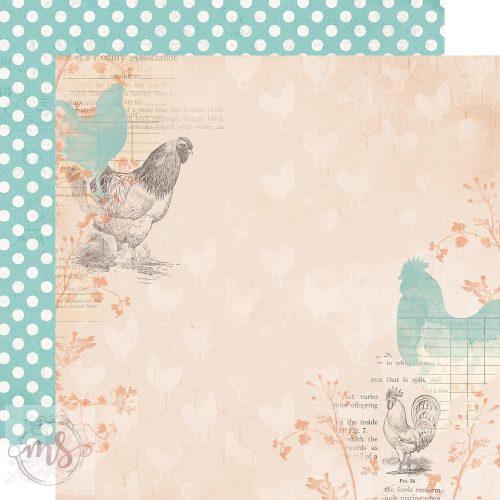 Scrapbook papír - Simple Stories - Simple Vintage Farmhouse Garden - Humble & Kind (1ív)