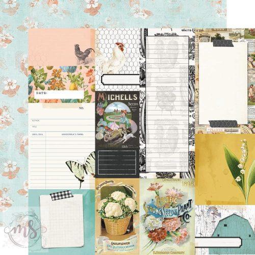 Scrapbook papír - Simple Stories - Simple Vintage Farmhouse Garden - Journal Elements (1ív)