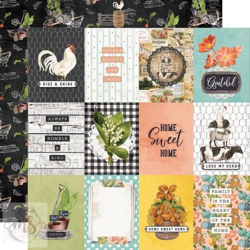 Scrapbook papír - Simple Stories - Simple Vintage Farmhouse Garden - 3x4 Elements (1ív)