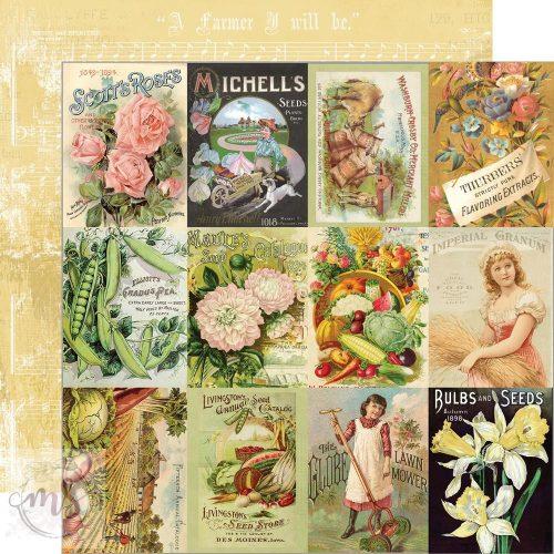 Scrapbook papír - Simple Stories - Simple Vintage Farmhouse Garden - Seed Packet Elements (1ív)