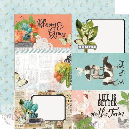 Scrapbook papír - Simple Stories - Simple Vintage Farmhouse Garden - 4x6 Elements (1ív)