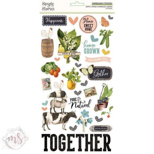 Chipboard Matrica - Simple Stories Simple Vintage Farmhouse Garden - Chipboard Stickers