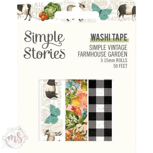 Dekortapasz - Washi Tape - Simple Vintage Farmhouse Garden 3db