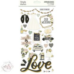 Chipboard Matrica  - Simple Stories - Happily Ever After