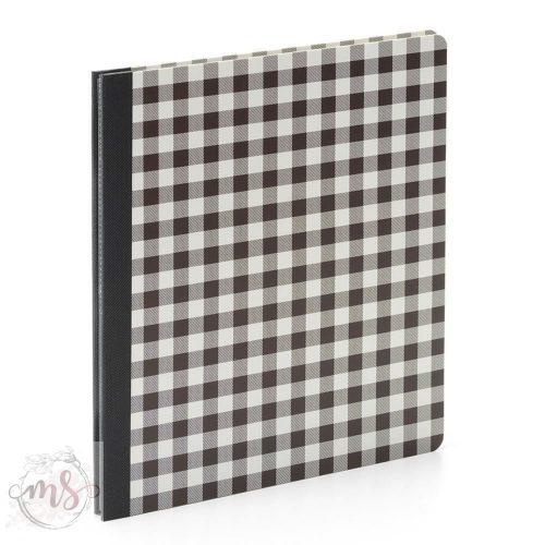 Flipbook Album - Simple Stories SN@P! Flipbook 6x8 Inch Black Buffalo Check