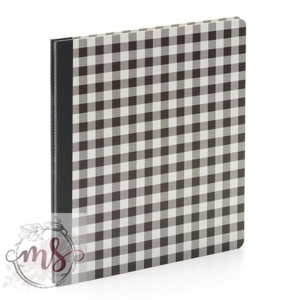 Flipbook Album - Simple Stories SN@P! Flipbook 6x8 Inch Black Bffalo Check