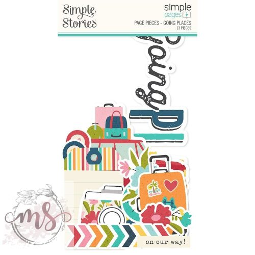 Nagy Papírkivágatok - Simple Stories Simple Pages Pieces - Going Places
