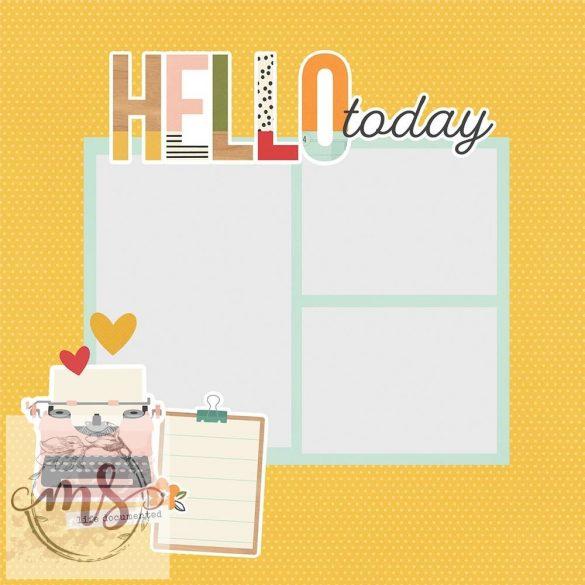 Nagy Papírkivágatok - Simple Stories Simple Pages Pieces - Hello Today