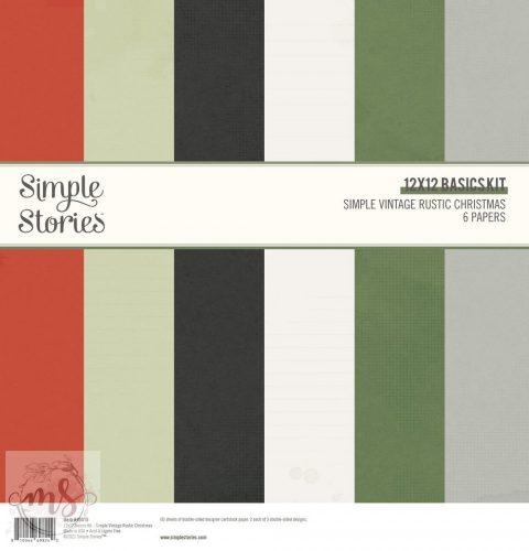 """Papírkészlet 12"""" - Simple Stories - Simple Vintage Rustic Christmas Basics Kit"""