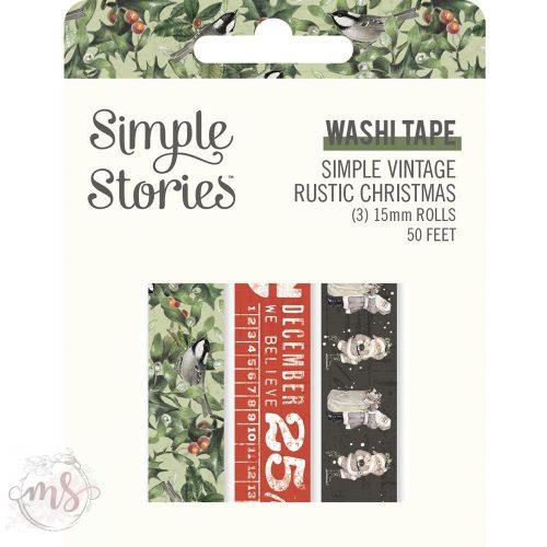 Dekortapasz - Washi Tape - Simple Vintage Rustic Christmas 3db