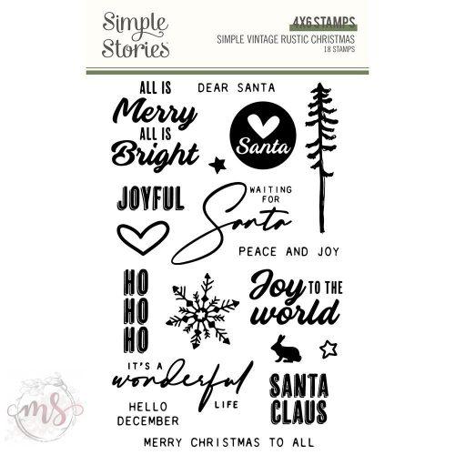 Szilikonbélyegző - Simple Stories - Simple Vintage Rustic Christmas