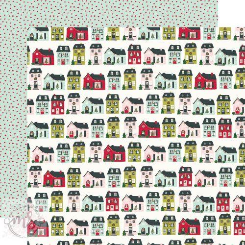 Scrapbook papír - Simple Stories - Holly Days - Home for Christmas (1ív)