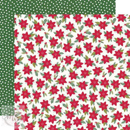 Scrapbook papír - Simple Stories - Holly Days - Mistletoe Memories (1ív)