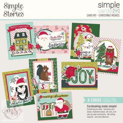 Képeslap készítő készlet - Simple Stories - Christmas Wishes 8 db képeslaphoz