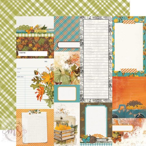 Scrapbook papír - Simple Stories - Simple Vintage Country Harvest - Journal Elements (1ív)