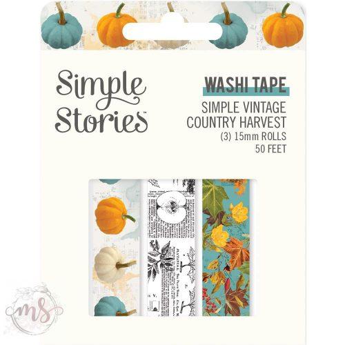 Dekortapasz - Washi Tape - Simple Vintage Country Harvest 3db