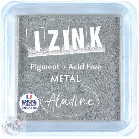 Tintapárna - Aladine Izink - Quick Dry Pigment Metal Inkpad - Silver