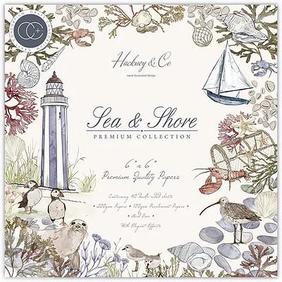 "Papírkészlet 6""x 6"" - Sea & Shore / 40lap"